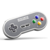 Game Controllerss & Steering Wheels-8Bitdo SF30 2.4G Wireless Gaming Controller for SNES/SFC Classic Edition -Grey on JD