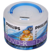 Blank Disks-Philips (PHILIPS) DVD-R 16 speed 4.7G hand carry obedient drum barrel 50 tablets recorded disc on JD