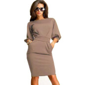 Casual-2Colors Star The Same Paragraph Dress Sexy Club Dress 2015 Package Hip Women Dress Slim Puff Sleeve Ladies Bandage Dress on JD