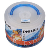 Blank Disks-Philips (PHILIPS) DVD + R 16 speed 4.7G hand carry obedient drum barrel 50 tablets recorded disc on JD