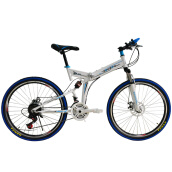 Bikes-NAIMA 26 Inch Folding Bike 21 Speed Shocking-proof Double Disc Brake Full Shocking-proof Mountain Bike on JD