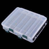 Fishing Lures-12 Compartment Double Sided Fishing Lures Tackle Hooks Baits Case Storage Box on JD
