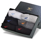 Women's Socks-【Jingdong Supermarket】 Seven wolves socks men's socks socks breathable sports wind cotton socks 6 double gift box are mixed color (91743-6) on JD