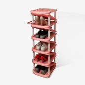 Bedroom Furniture-Handsome plastic umbrella frame shoe rack living room simple large capacity storage shoe racks can be placed umbrella multi-storey shoe cabinet green ten layers SL1665Y4 on JD