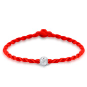 Wrap Bracelets-Maltia 925 silver red rope bracelet for girlfriend on JD