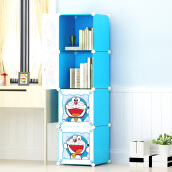 Home Office Furniture-[Jingdong supermarket] Kou Si free combination of bookshelves removable storage cabinets lockers with easy door 4 small book cabin on JD