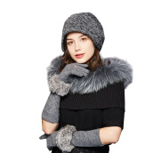 Scarf, Hat & Glove Sets-[Jingdong supermarket] Kamon (Kenmont) km-2811 autumn and winter women's outdoor long paragraph warm gloves mobile phone touch gloves gray on JD