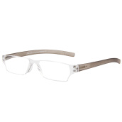 Eyewear & Accessories-Love (LianSan) reading glasses meneless frame transparent transparent glasses glasses old glasses 2020 100 degrees brown on JD