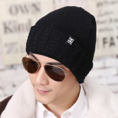 Hats & Caps-Autumn and winter new knit hat warm men 's wool hat ear cap cap plus thickening on JD