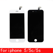LCDs & Touch Screens-Best AAA quality for iPhone 5 5C 5S LCD touch screen digitizer Full set Assembly White and black color with fast shipping on JD