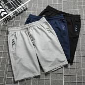 Sweatpants-SHUYI Men short pants cotton Loose Trend Shorts Pure Color Solid Color Simple Sports Shorts Running Pants on JD