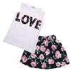 Toddler Kids Baby Girls T-shirt Tops+Floral Skirt Dress Clothes Outfits Set, Duo Pin Hui  - buy with discount