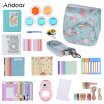 Andoer 14 in 1 Accessories Kit for Fujifilm Instax Mini 888s9 w Camera CaseStrapStickerSelfie Lens5Colored FilterAlbum  - buy with discount