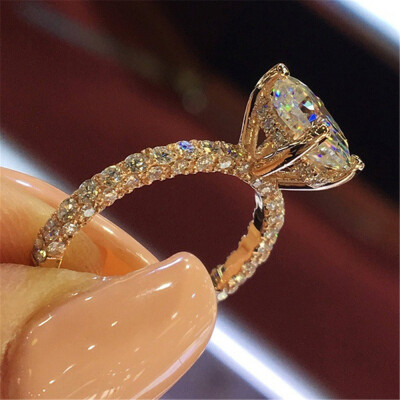 Beautiful Princess Blinking Ring Modern Fashion Engagement Proposing Ring Women Wedding Anniversary Exquisite Sparkling Rings