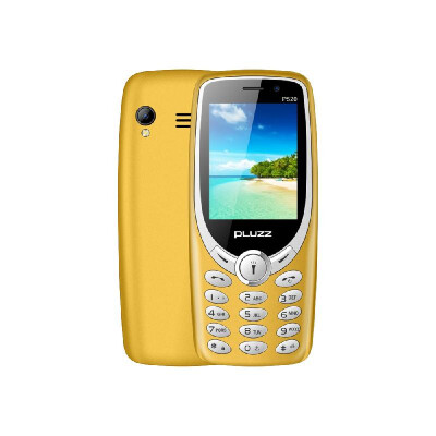 PLUZZ P520 Feature Phone Keyboard Portable Dual Sim 24Inch 2G GSM Loud Volume LED Flashlight FM 1800mAh Battery