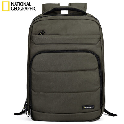 National Geographic National Geographic backpack female computer bag male 156-inch multi-function large-capacity school bag business casual backpack khaki