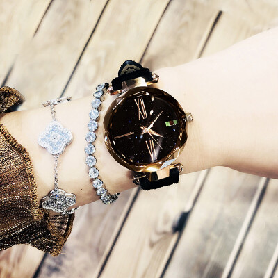 Authentic 2019 new watches ladies stars fashion simple waterproof network red shaking sound ladies watches
