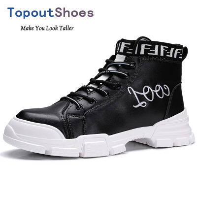 TopoutShoes Elevator Men High Top Skateboarding Shoes Height Street Fashion Sneakers Taller 28inch 7cm