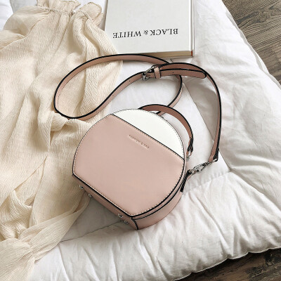 Summer new ins super fire contrast color bag female 2019 new Korean version of the wild single shoulder slung fashion small round bag