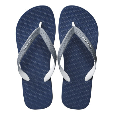 Hotmarzz hit color ribbon casual flip flops male