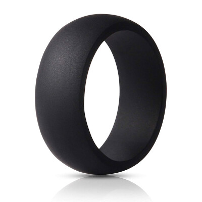 Outdoor Silicone Rings for Men - 7 Pack Comfortable & Durable Rubber Wedding Bands for Sports Gym Outdoors