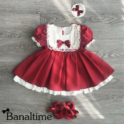 Toddler Kids Baby Girls Lace Party Pageant Bridesmaid Princess Formal Tutu Dress