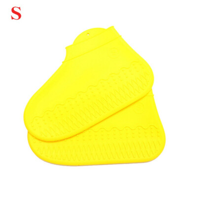 1 Pair Reusable Waterproof Rain Shoes Covers Slip-resistant Silicone Rain Boot Overshoes Protector SML Outdoor Use Accessories