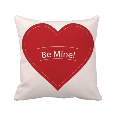 Valentines Day White Be Mine Square Throw Pillow Insert Cushion Cover Home Sofa Decor Gift