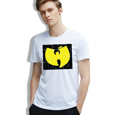 Cool Man T-shirt Wu Tang Hiphop Rap Wutang Clan Culture T Shirt Men Cotton Print Casual O Neck White Solid Color Tees