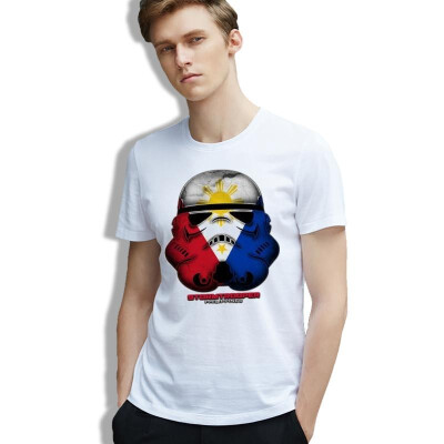 Man Tshirt Star Wars Stormtrooper Art Geek Artsy Pop Culture Tee Cotton Print Casual O Neck Clothing