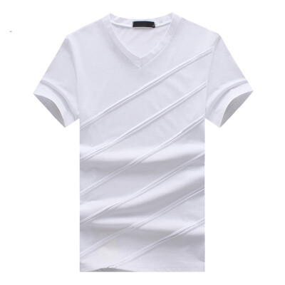 JCCHENFS 2018 Fashion Patchwork Striped T-Shirts Summer Short Sleeve Mens T-Shirt Tops Cotton Brand Casual T Shirt For Men