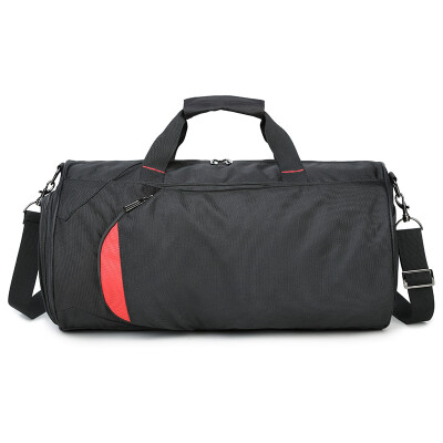 Landcase Cylindrical Bag Handbag Messenger Bag Korean Style Fitness Sports Bag Tide Light Bag 8566 Black