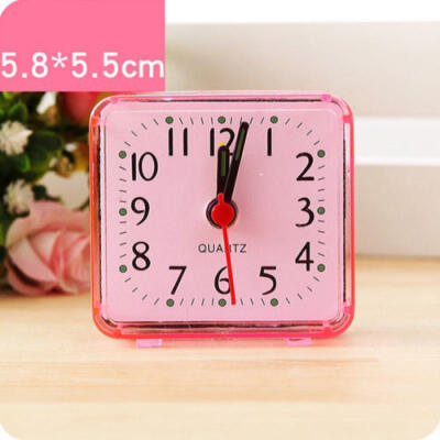 Portable Cute Mini Round Battery Alarm Clock Desktop Table Bedside Clocks Decor