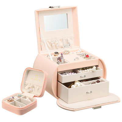 a8541ec11 Chandelo (VLANDO) Jewelry Boxes Parents With Makeup Mirrors Jewelry Hand  Ornaments Boxes Wedding Valentine's Day Birthday Gift Set Sakura Powder