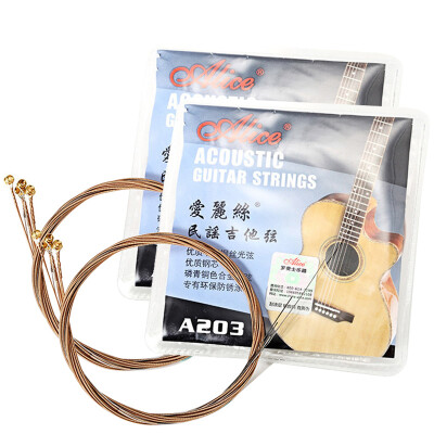 Alice Alice Folk Guitar String Wire Skeleton Piano String Guitar String 1-6 Strings 6 Two Boxes Light A203- 2 Set