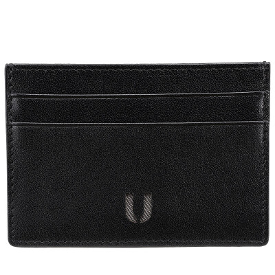 ULIFE fashion neutral card bag thin section soft head layer leather wallet card business card holder card kits K101U black