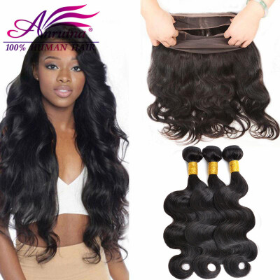 360 Lace Frontal Closure With Baby Hair And Bundles 8A Brazilian Body Wave With Closure Cheap Human Hair Bundles With Closure