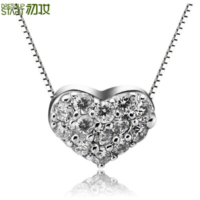 Early makeup S925 silver love necklace small and lovely peach heart design clavicle necklace heart to send his girlfriend to send gifts to choose