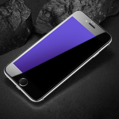 Three loaded -3D anti-blue Lonkey Apple 6S tempered film Apple 6 tempered film iphone6 ​​ 6s tempered soft-screen full-screen coverage of high-definition explosion-proof mobile phone protection film black